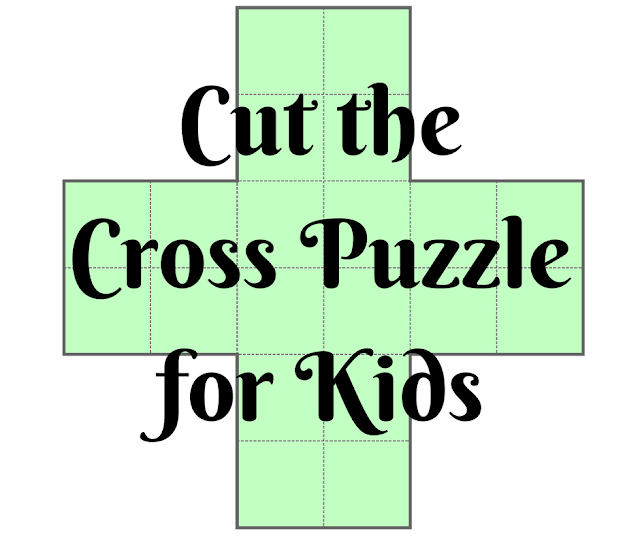 Cut the Cross Puzzle for Kids with Answers