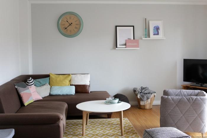 Wandgestaltung Wohnzimmer Pastell Wandfarben Lassen