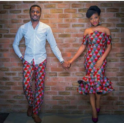 African Matching outfits for black couple | fashenista