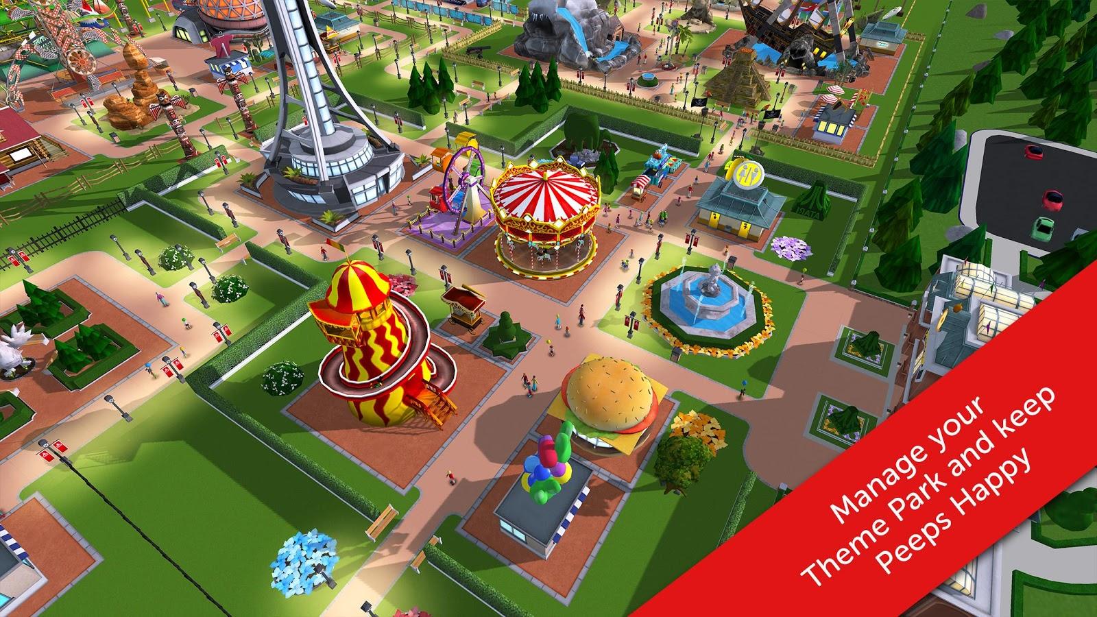142) Download Game RollerCoaster Tycoon Touch Mod Apk Data ~ NGOOOPREK