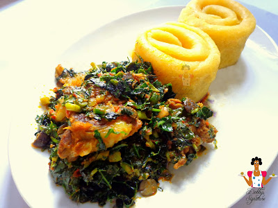Image result for african food EGUSI AND EBA