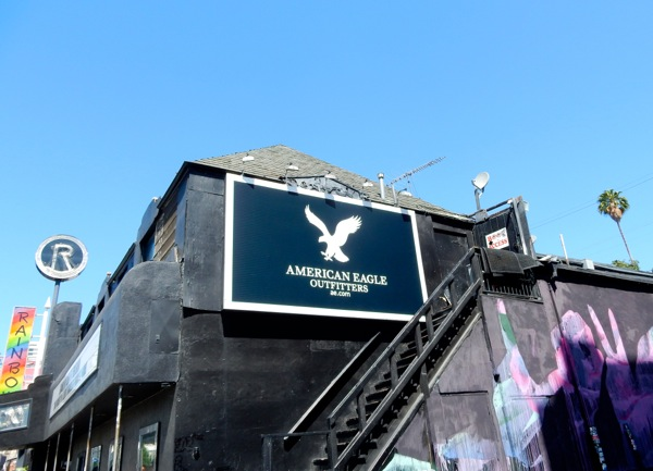 American Eagle Outfitters logo billboard