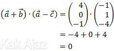 Perkalian vektor (a+b)(a-c)