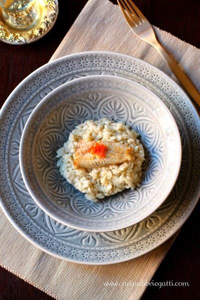 risotto topinambur pesce triglia ricetta
