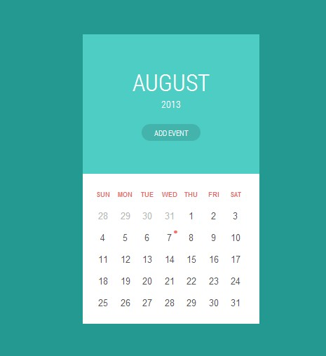 Calendar Design Css : قوالب كليندر free calendar templates html css موقع