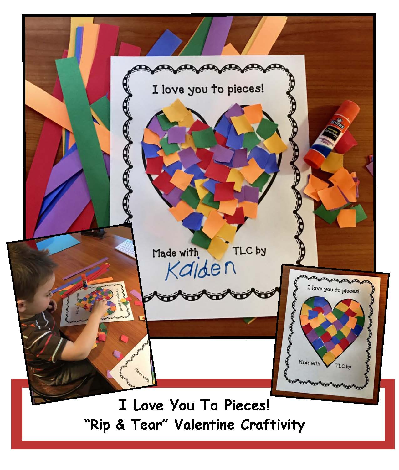 Tear fall colored construction paper into small pieces and glue - Simply Print The Worksheet And Cut Strips Out Of A Variety Of Colors Of Construction Paper Children Choose Their Colors Then Rip The Strips Into Smaller