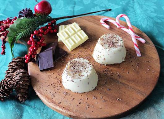 White Chocolate Peppermint Panna Cotta