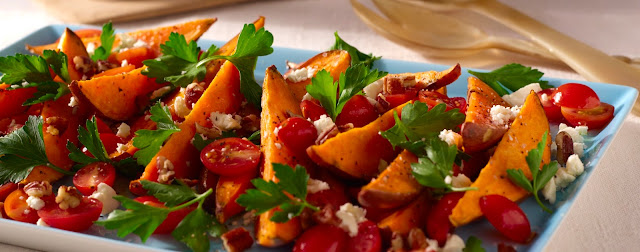 How to Make Sweet Potato Wedges with Parsley Salad