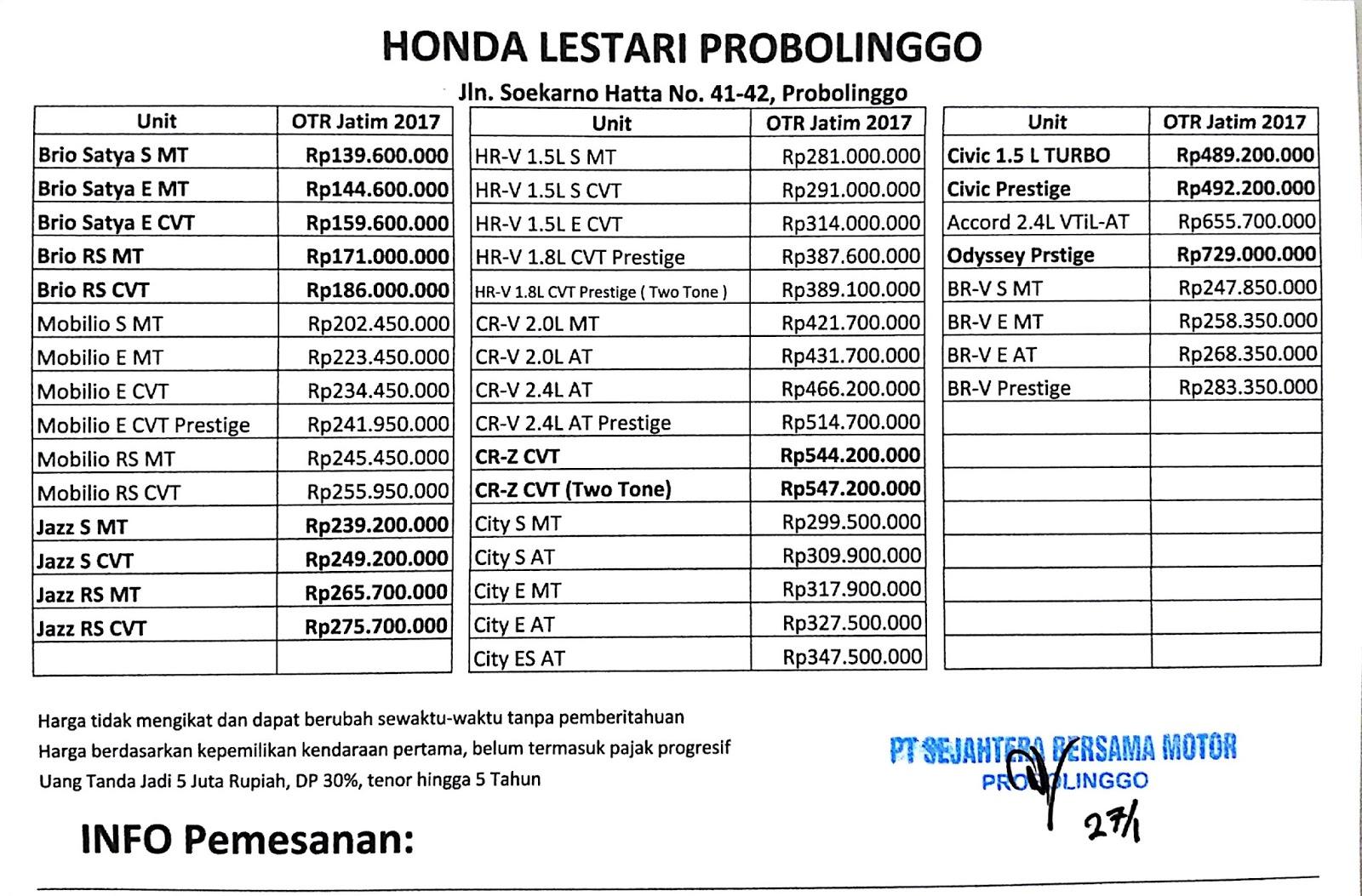 Honda Lestari Probolinggo Honda Lestari Probolinggo
