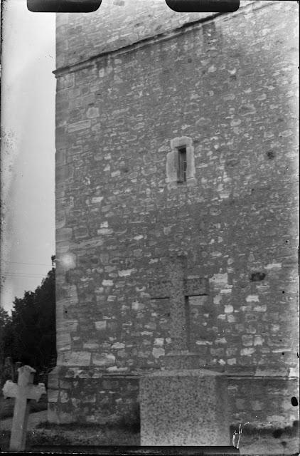Dölzig Rillen am Kirchturm - ca. 1930-1940