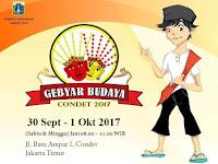 GEBYAR BUDAYA CONDET  Digelar 30 September 2017