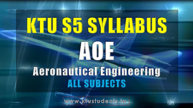 KTU Aeronautical Engineering s5 syllabus