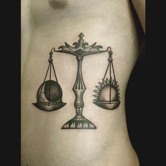 best libra tattoos on ribs