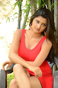 Poojitha sizzling in red dress-thumbnail-7
