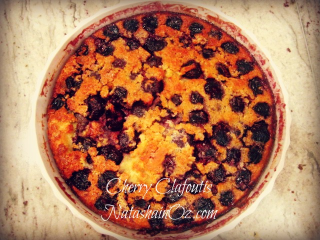 Cherry Clafoutis Recipe Natasha in Oz