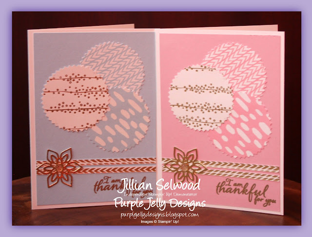 Thank You Cards using Stampin' Up! products