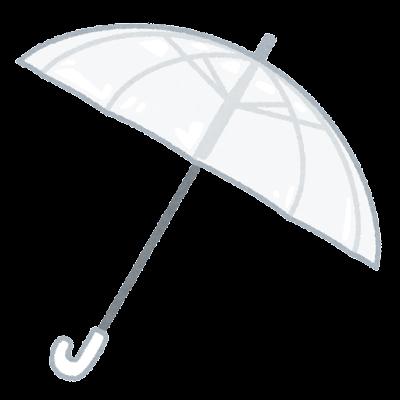 ビニール傘のイラスト(開いた状態)