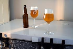 Hoppy Hanseniaspora beer in front/right, base next to the bottle.