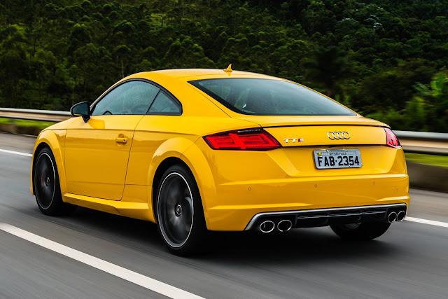 Novo Audi TTS 2016 - Amarelo