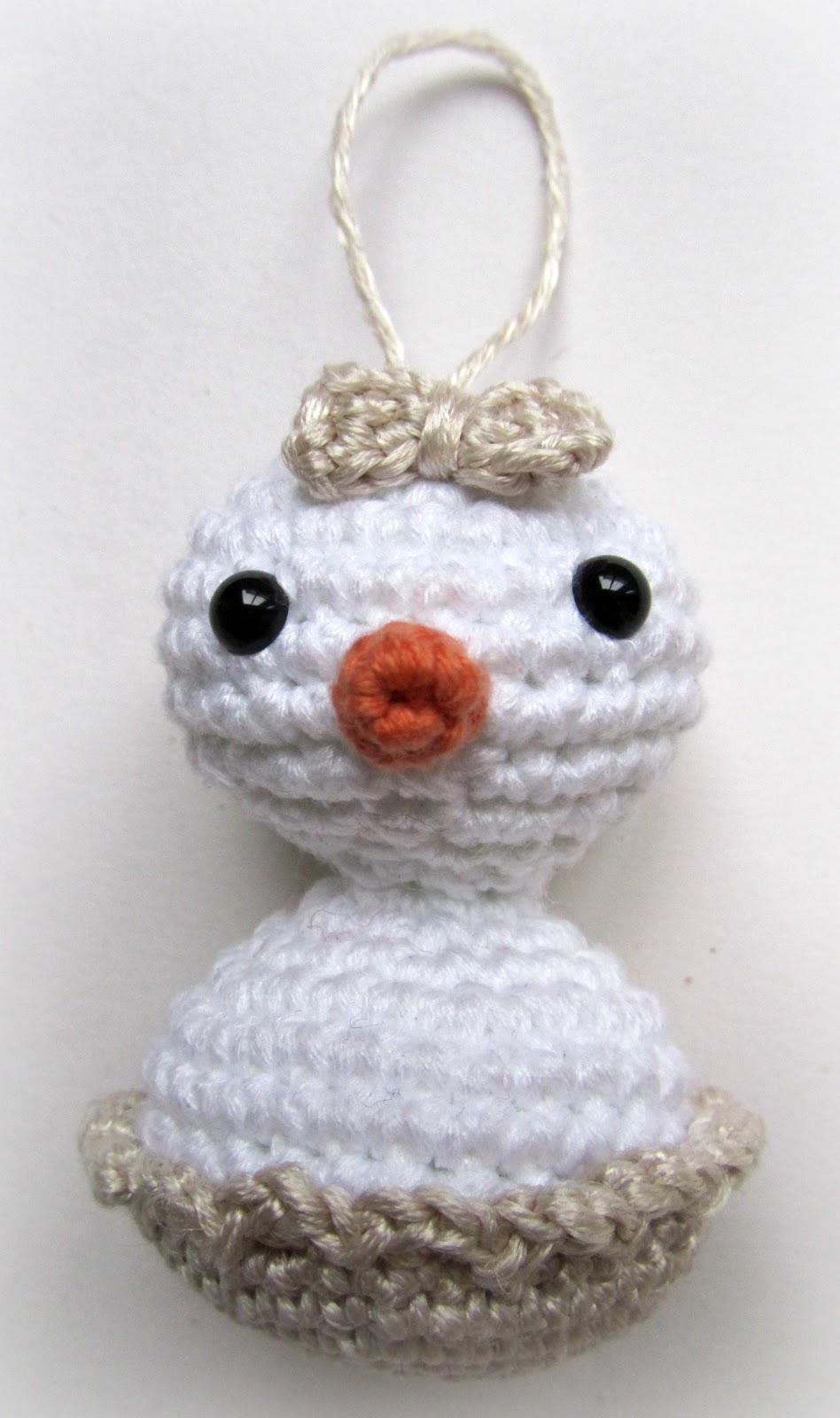 Crochet baby snowman