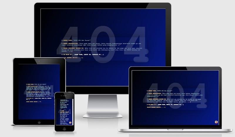 Contoh  Halaman 404 Yang Keren Serta Cara Memasangnya Di Blog