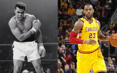 Muhammad Ali and LeBron James