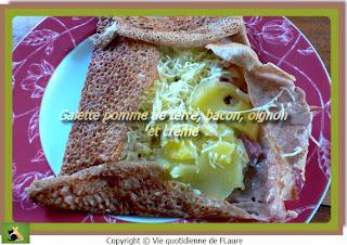 Vie quotidienne de FLaure: Galette pommes de terre, bacon, oignon et crème