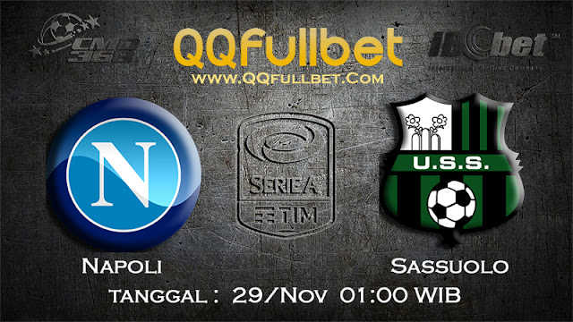 PREDIKSIBOLA - Prediksi Taruhan Bola Napoli VS Sassuolo 29 November 2016 (SERIE A Italia)
