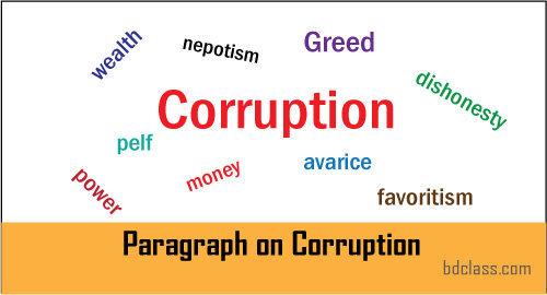 Paragraph on Corruption
