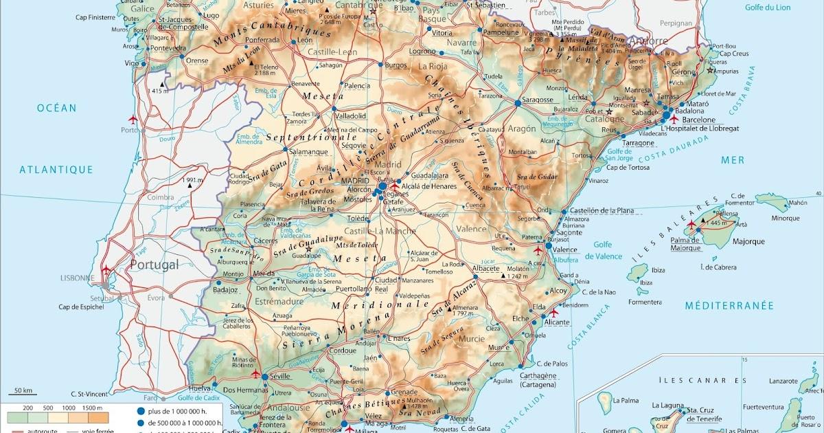 Carte Andalousie Ign.Cartes Topographiques De L Espagne