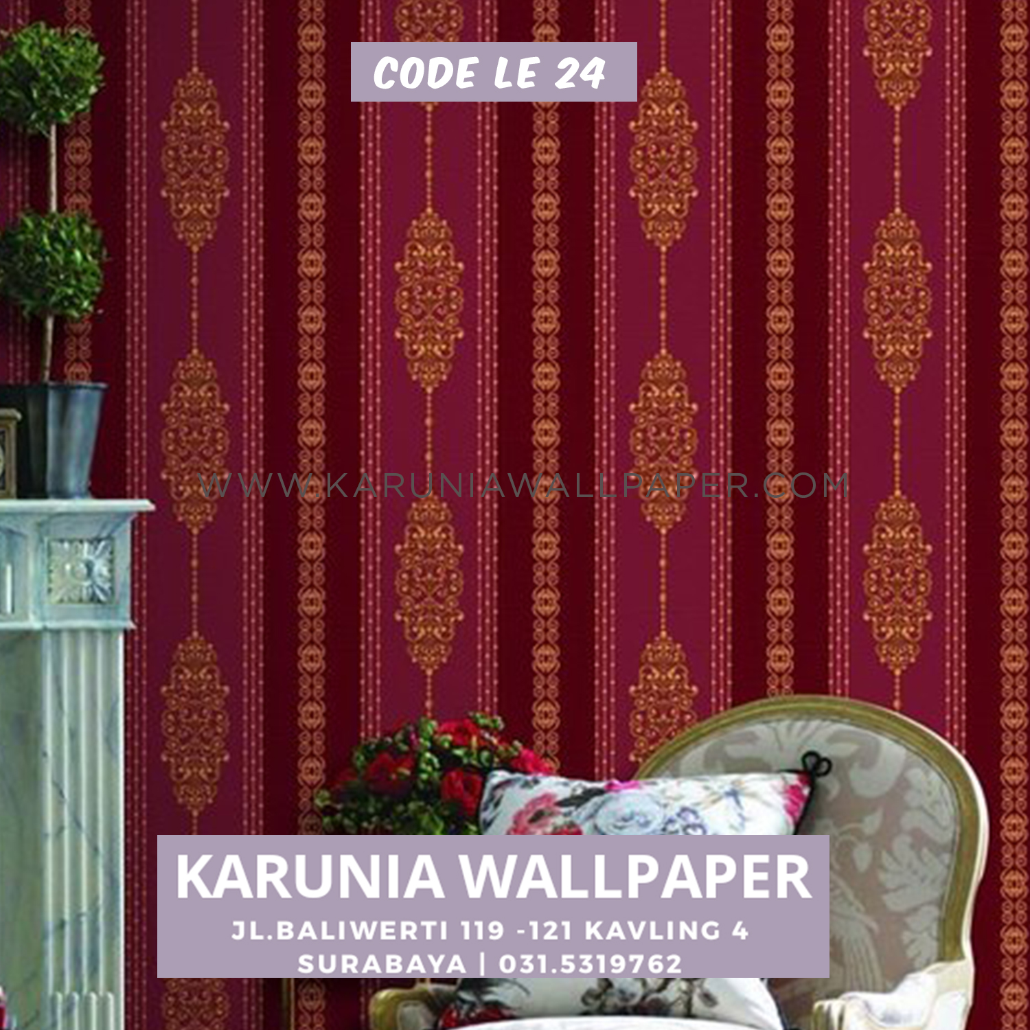 jual wallpaper merah