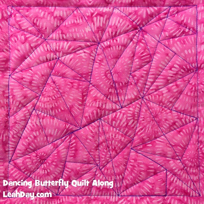 triangle mosaic | free motion quilting