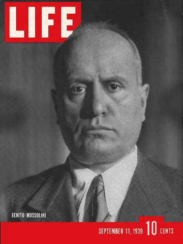 Mussolini Life Magazine September 11, 1939 worldwartwodaily.filminspector.com