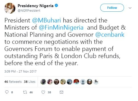 BREAKING News: Pay Workers All Salaries Owed Before Christmas - Buhari Orders Governors
