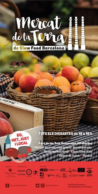 Mercat setmanal de la Terra de Slow Food Barcelona al Parc de les Tres Xemeneies