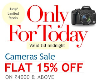 [Today Only] Additional 15% Discount on Camera & Accessories @ HomeShop18