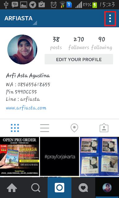 Cara membuat Multiple Account di Instagram - Profile Setting