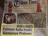 Tanda Kemenangan dari Timur.. FATIMAH KALLA HADIRI KAMPANYE PRABOWO