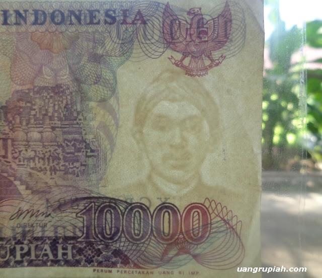 Gambar Pahlawan dr Cipto Mangunkusumo pada Watermark Uang 10 Ribu Rupiah Tahun Emisi 1985
