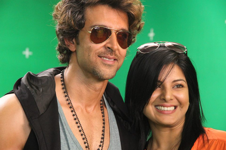 Smrity Sinha With Bollywood Actor Hrithik Roshan