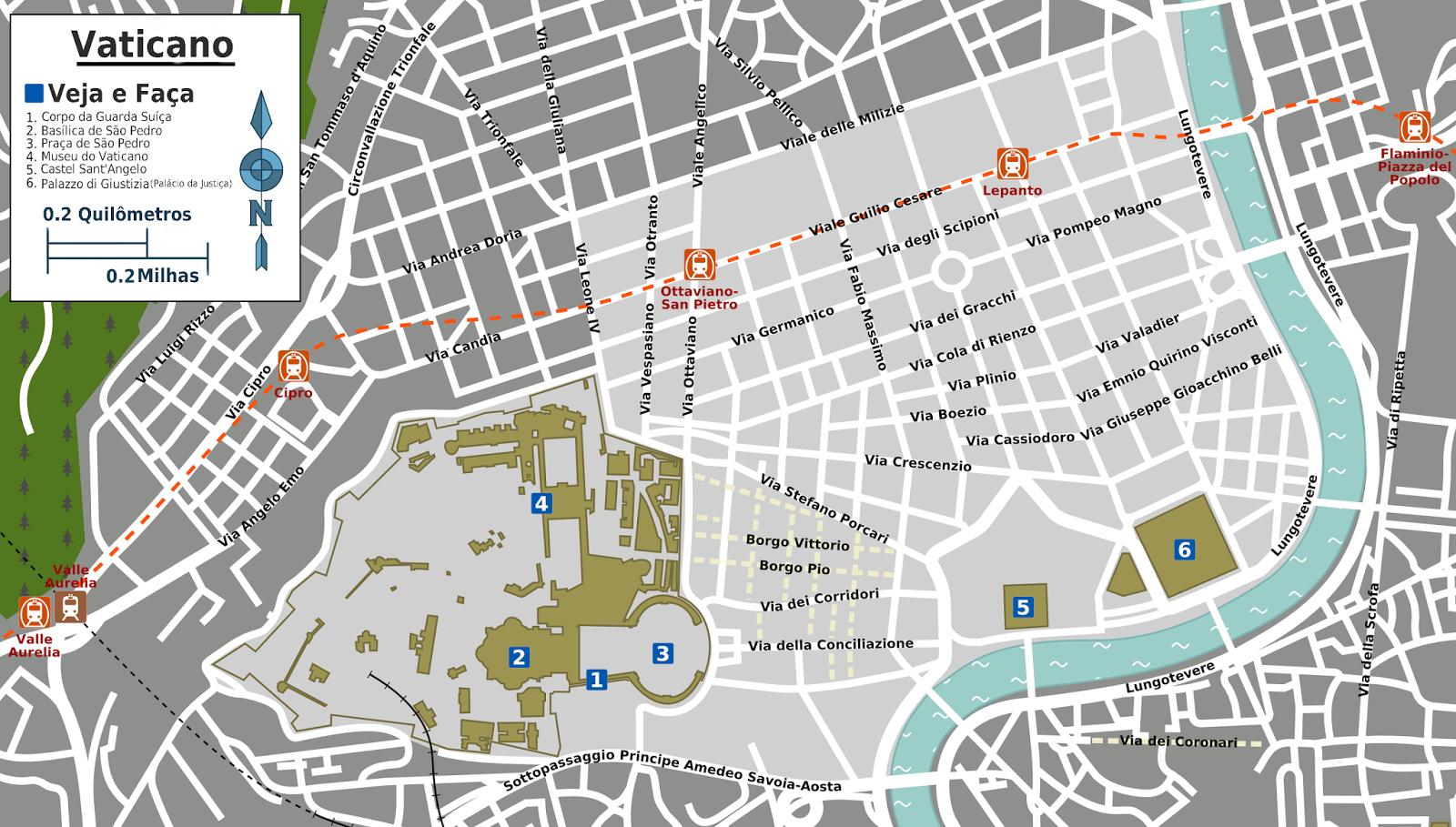 Map of  Vatican Museums