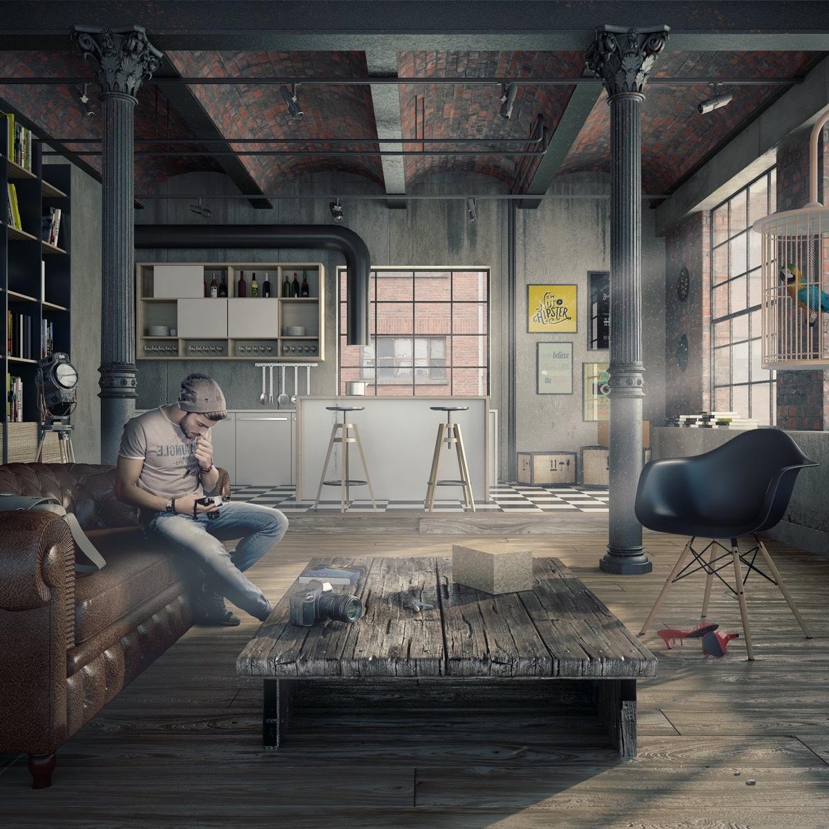 Lofts verdadeiros: 52 inspirações | Casinha colorida