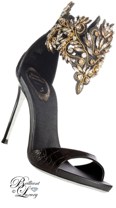 Brilliant Luxury ♦ Rene Caovilla bejeweled heels