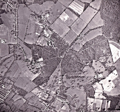Image 8: Photograph taken March 15, 1961 Aerial photograph of North Mymms from the Peter Miller Collection