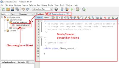 7 - Tutorial 2 Pemrograman Java Netbeans – Cara Menciptakan Class Baru