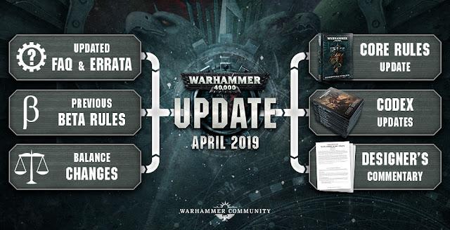 Actualización Warhammer 40,000  abril 2019