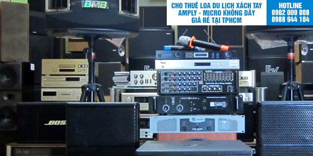 Cho thuê dàn âm thanh và micro không dây tại TpHCM