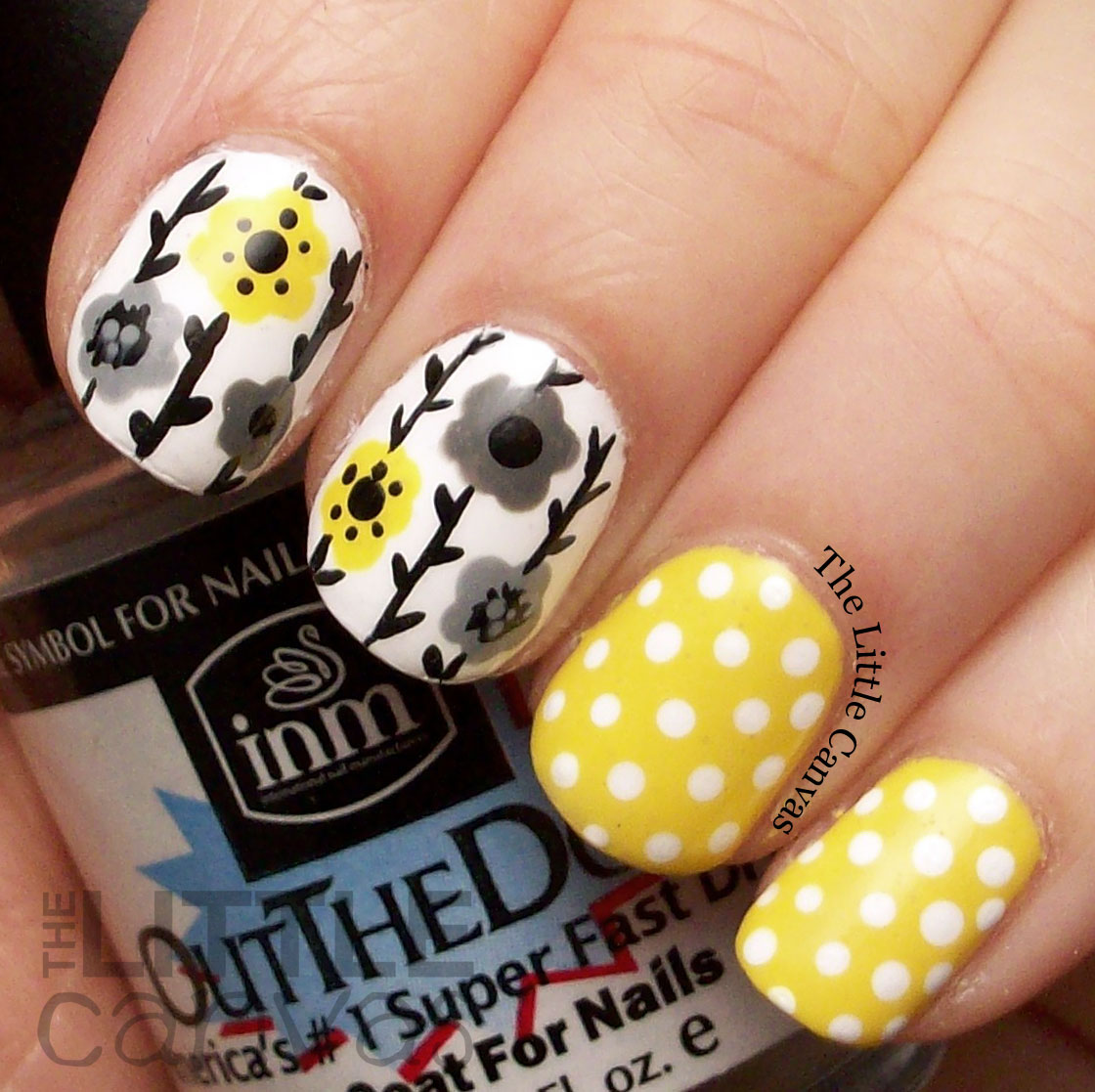 Grey And Yellow Nail Polish Designs Hession Hairdressing