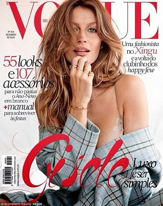 f2632f2fb6fa5 Poised, polished and perfectly tousled - Gisele Bündchen looks like she's  just woken up on the right side of bed in a sexy new photoshoot.