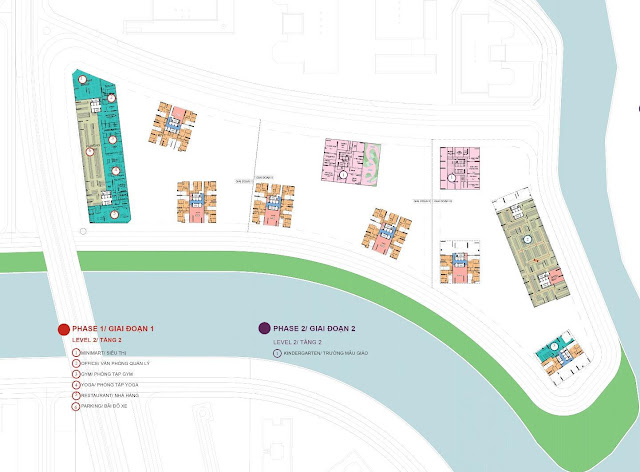 Phối cảnh sơ đồ các tiện ích dự án Gem Riverside